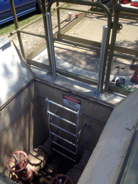 valve-pit-ladder-steel