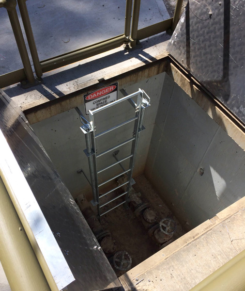 valve-pit-stainless-steel-ladder