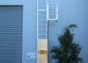 ladder-with-vertical-fall-arrest-device-with-rest-platform